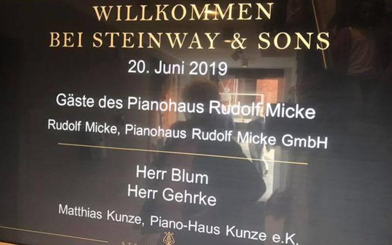 Toller Tag in Hamburg bei Steinway!